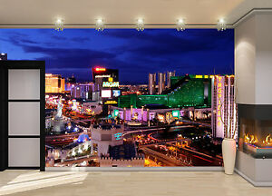 Las Vegas Strip Wall Mural Photo Wallpaper Giant Decor Paper Poster