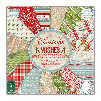 FIRST EDITION CHRISTMAS WISHES - SAMPLE PACKS 16 X  6 x 6 PAPERS - FOR CRAFTS