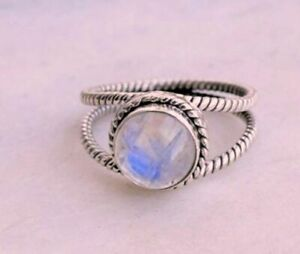 Rainbow-Moonstone-Ring-Solid-925-Sterling-Silver-Ring-Handmade-Ring-Size-All-sr1