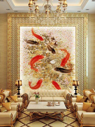 3D IL Pesce rot 8 Parete Murale Carta da parati immagine sfondo muro stampa