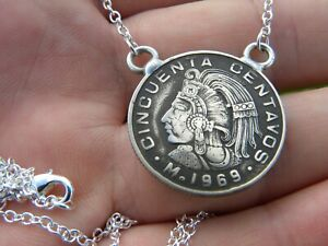 Mexican-Cincuenta-1969-centavos-coin-necklace-nice-gift-various-years-available