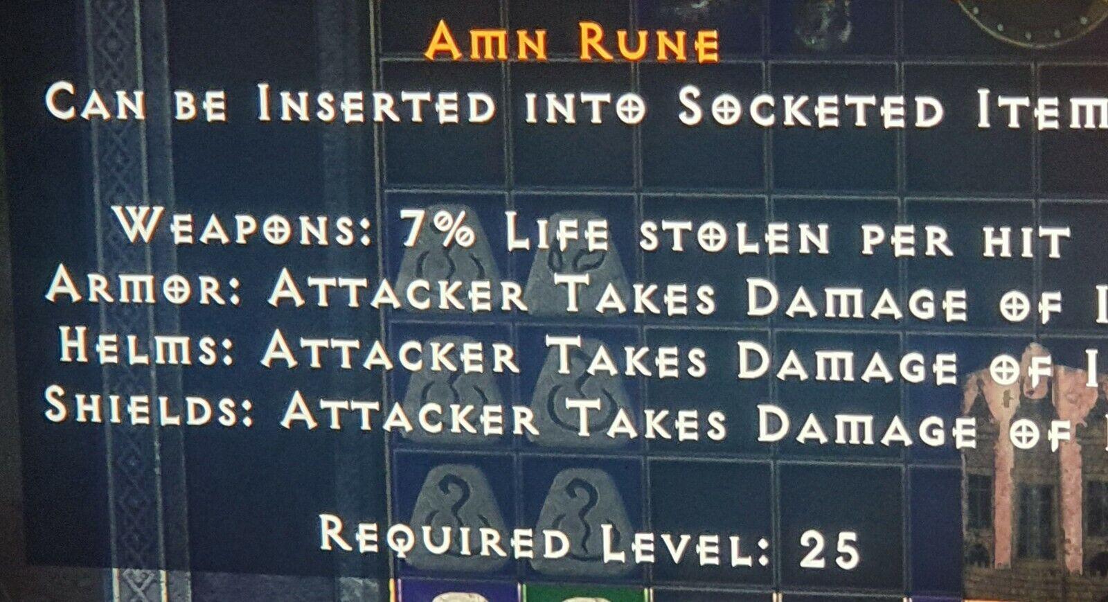Diablo 2 Resurrected AMN rune XBOX softcore