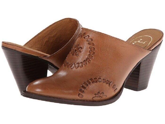 """JACK ROGERS Marley Tan Leder Western Style Mule Slide NIB Damens's 7 med 2 3/4"""""""