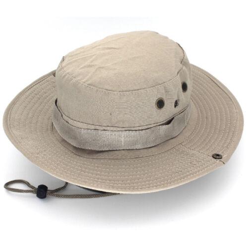 Men Army Military Boonie Hat Jungle Bush Combat Fishing Sun Travel Bucket Cap