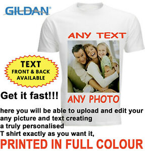 Personalised-T-shirt-Custom-Your-Image-Printed-Stag-Hen-Party-Men-Women-Kids-DTG