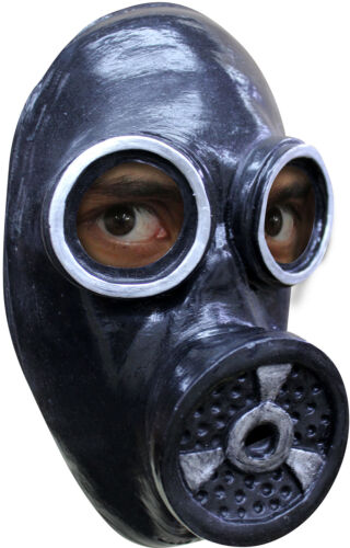 Scary Gas Mask Latex Rubber WW2 1940s Fallout Fancy Dress Halloween Costume NEW