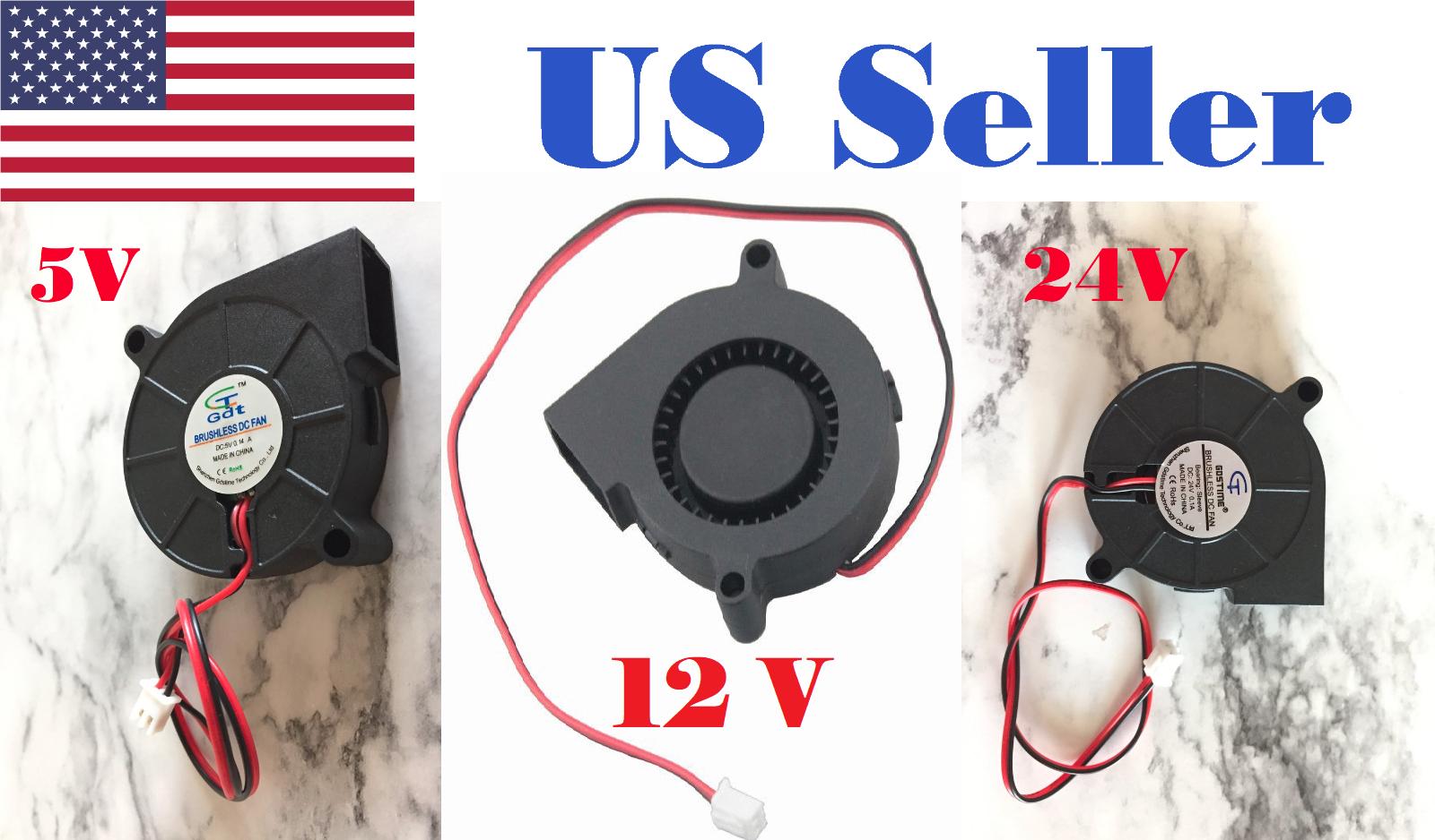 5V 12V 24V DC 50mm Blower Radial Cooling Fan Hotend Extruder For 3D Printer