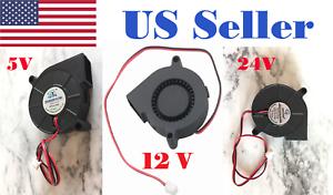 5 V 12 V 24 V Dc 50 Mm Ventilateur Radial Ventilateur De Refroidissement Hotend Extrudeuse Pour Imprimante 3d-afficher Le Titre D'origine
