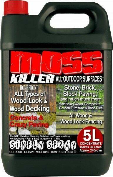 Patio Fencing Decking Mould Algae Moss Killer Remover