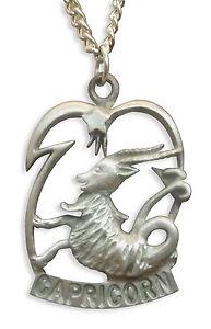 capricorn necklace zodiac astrology sign december 22 january 19 nk cap 803853004924 ebay. Black Bedroom Furniture Sets. Home Design Ideas