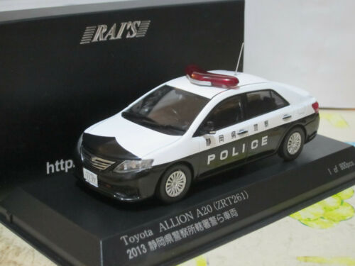 2013 Shizuoka Japan Police 1//43 RAI/'s Kyosho Toyota Allion A20 Premio ZRT261