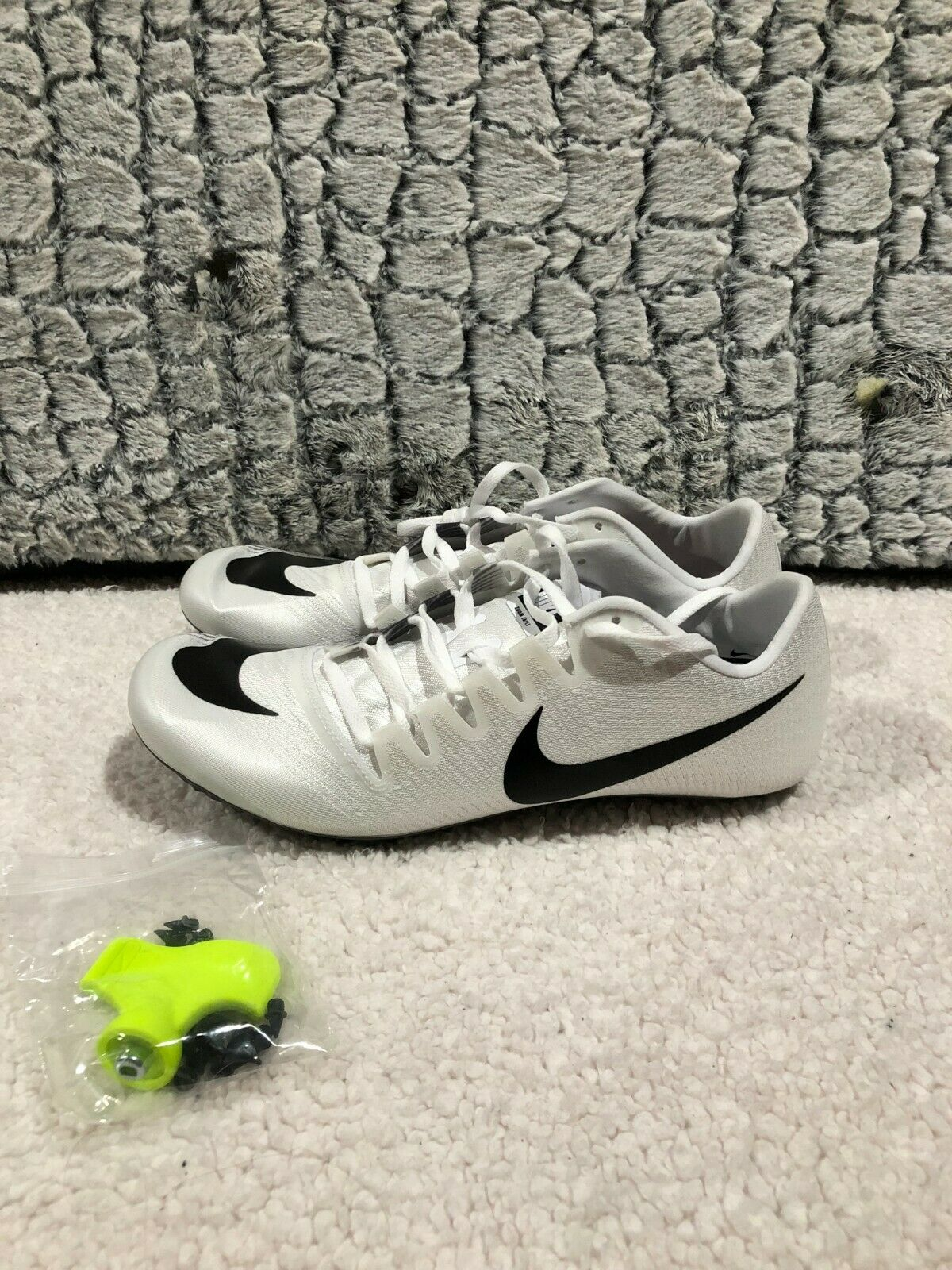Nike Zoom Ja Fly 3 Track Spikes White Grey Silver Black Size 11 Mens 865633-102