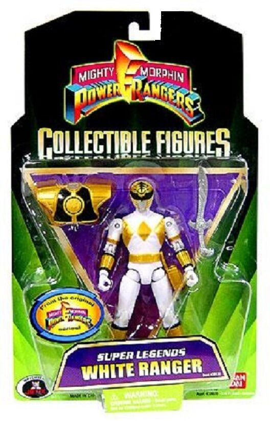Mighty Morphin energia Rangers bianca bianca bianca Ranger Super Legends nuovo Factory Sealed 2008 bf4692