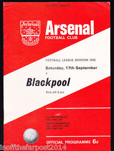 1966-67-ARSENAL-V-BLACKPOOL-17-09-1966-Division-1