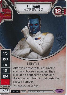 Star Wars Destiny Empire at War #4 Thrawn Card /& Dice