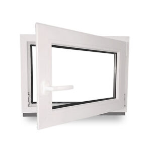 kunststofffenster kellerfenster fenster dreh kipp 600x400 mm 60x40 cm 2 fach ebay. Black Bedroom Furniture Sets. Home Design Ideas
