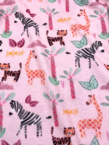 Frottee Stoff Kinderstoff Zoo rosa  Breite 170cm ab 50 cm
