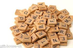 Holz Scrabble Fliesen schwarz Buchstaben Platte BASTELN GROßHANDEL Billig