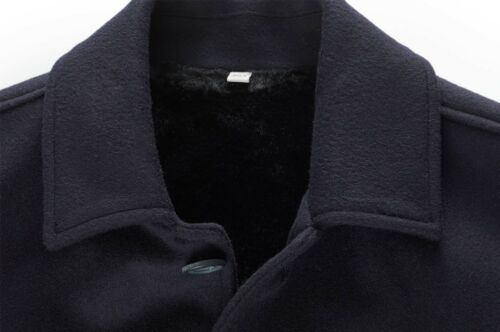 Xl amp; Lined Bnwt Jacket Hardy Amies Uk42 Cashmere Wool Bomber Coat Fur Navy It52 txpqw7Yq