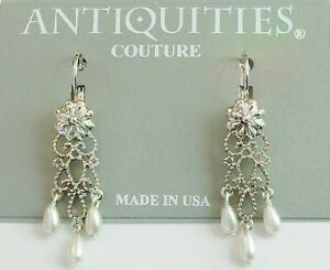 1928 Jewelry Antiquities Couture Simulated Pearl Chandelier ...