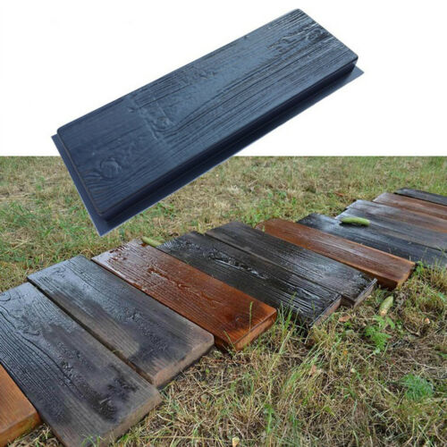 Set 2 Molds Old Wooden Boards Concrete Mould Garden Stepping Stone