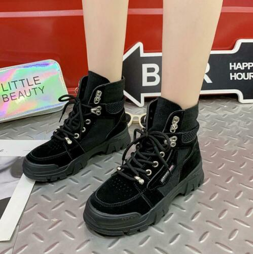 Women Girls Army Military Desert Combat Ankle Boots Outdoor Sneakers Biker Shoes
