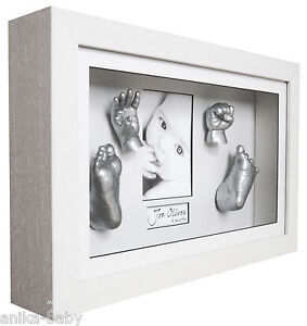 New 3d Large Baby Casting Kit White Deep Box Frame