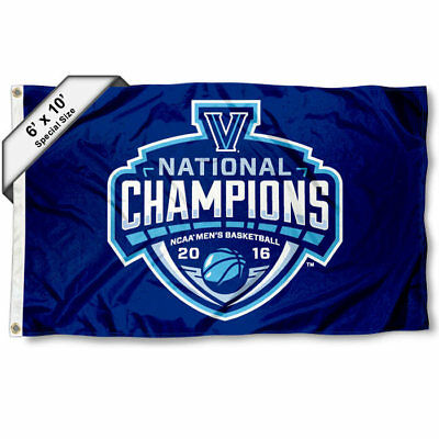 College Flags and Banners Co Villanova Wildcats NCAA Basketball 2018 Champions Double Sided Flag