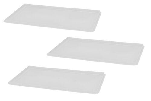 3 Stück Deckel Weiß Pizzaballenbehälter Eurobox Aufbewahrungsbox Gastlando