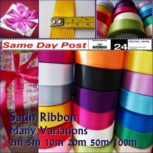 SATIN-RIBBON-1-034-25MM-WIDE-MANY-COLOURS-2M-TO-100M-LONG-CRAFT-GIFTS-WRAPPING