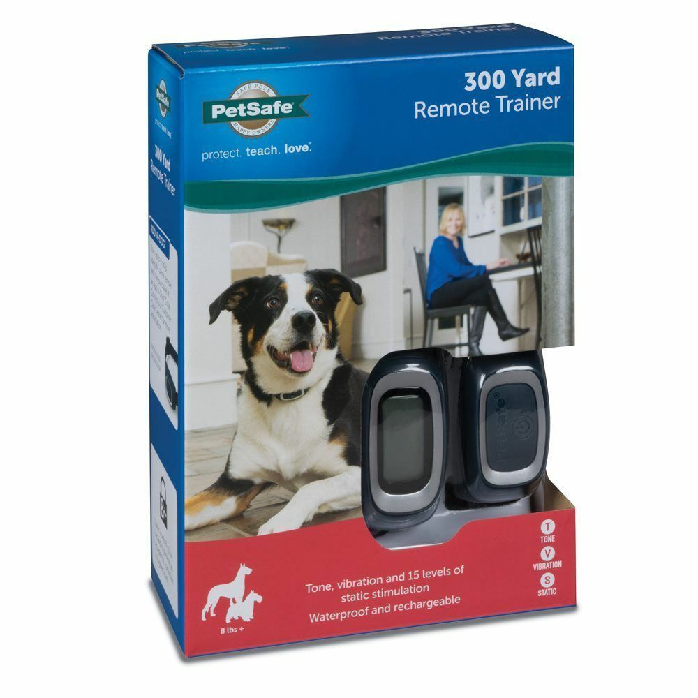 PetSafe 300 Yard Remote Remote Remote Dog Trainer Rechargeable Training Collar Dogs 8 lbs 112a70