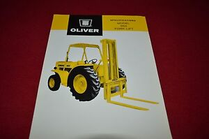 Oliver Tractor OB-7 Blade /& Attachments Dealer/'s Brochure JKNB