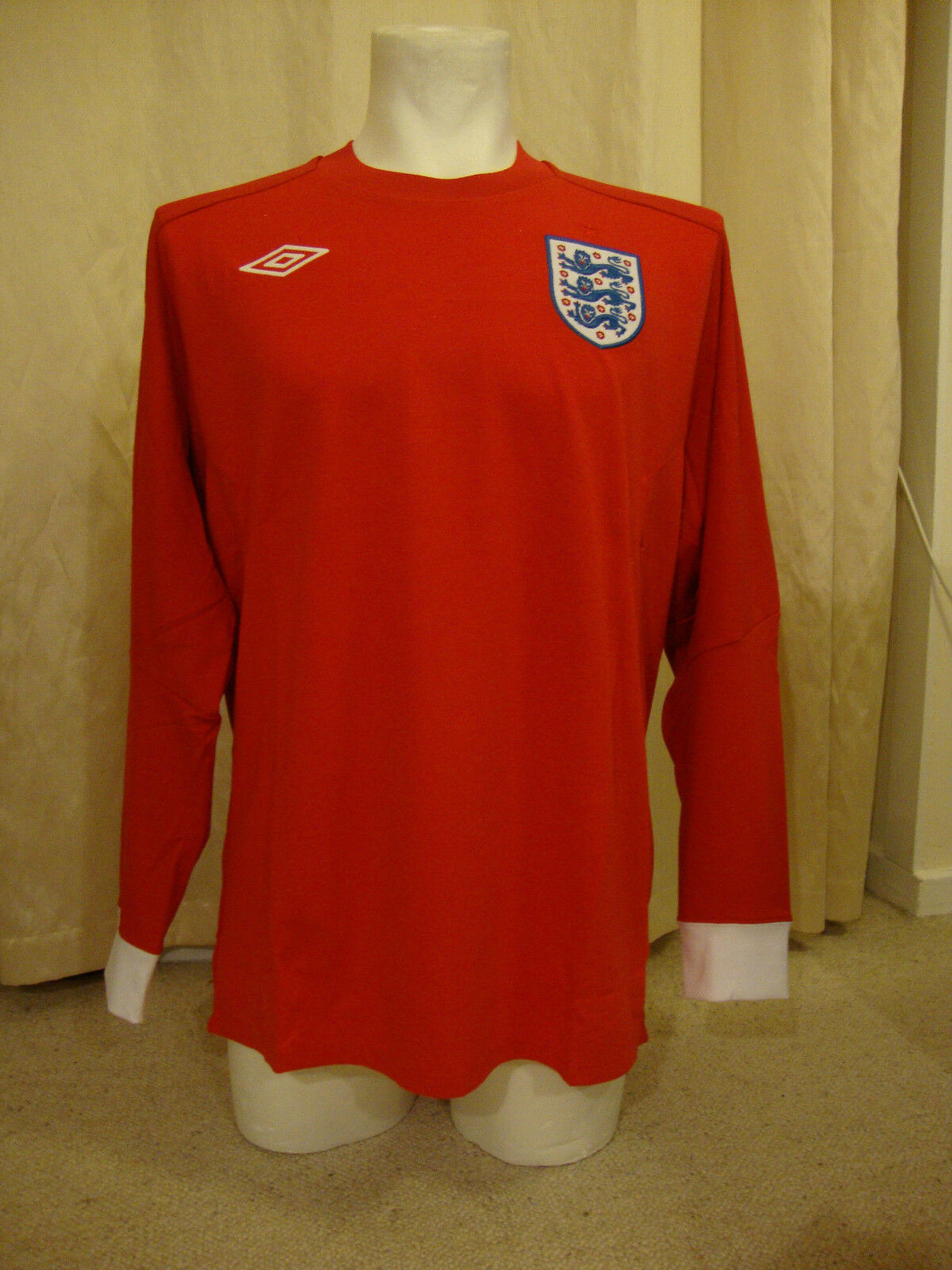 England 2010 - 2011 Long Sleeve Away Shirt by Umbro  - BNWT (48