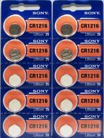 Cr 1216 Sony Lithium Batteries (10 Piece) 3v Watch Authorized Seller