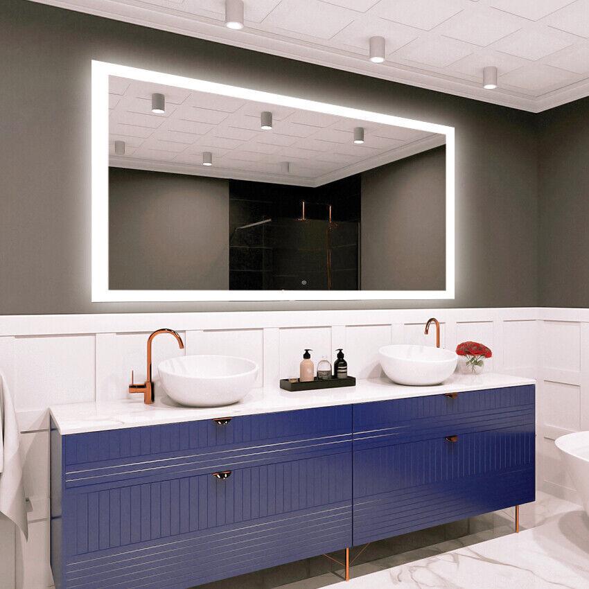 LED Iluminado Interruptor Táctil Espejo de parojo baño tamaño variantes-Deluxe M1ZD-50