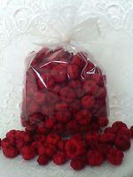 8 Cups Deep Red Primitive Mix Pumpkin Putka / Pods, Fall Crafts Fillers