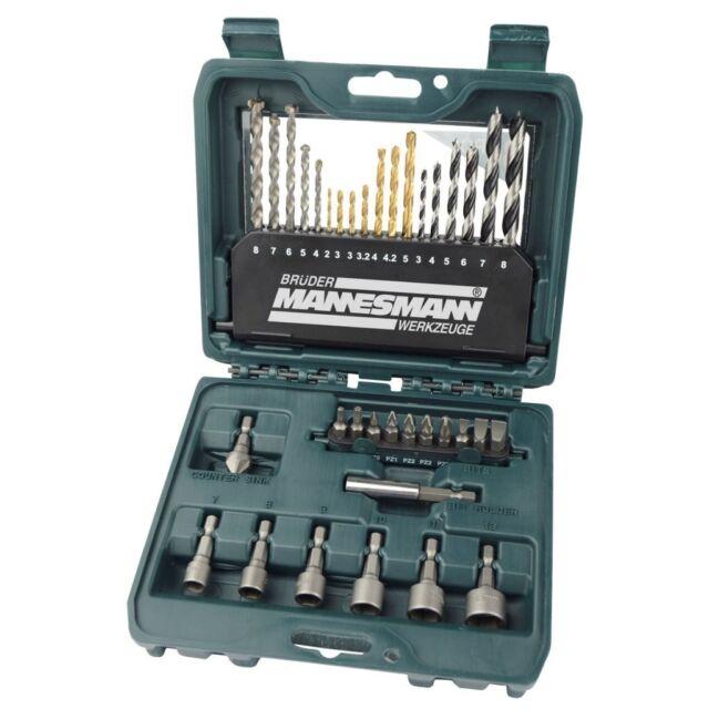 Bohrer-Bitsatz Werkzeuge Schraubendreherbit-Set 36-tlg. 54336 Mannesmann NEU