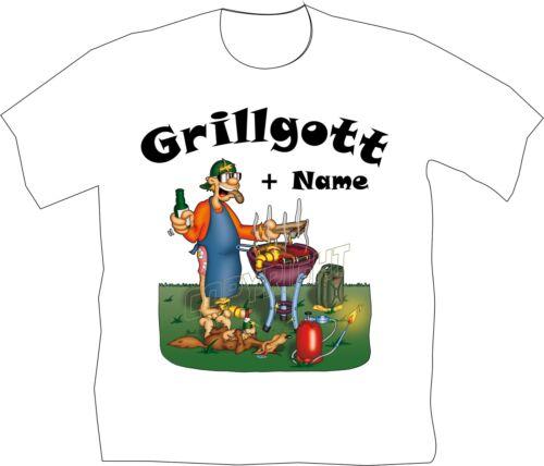 Grillgott T-Shirt Shirt Pour Griller Cadeau D/'Anniversaire Barbecue Funshirt Fête 1