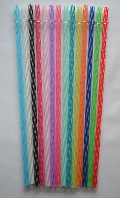 """CLEAR/SWIRLY"" STRAWS, 9"" or 11"" Reusable, Replacement BPA Free"