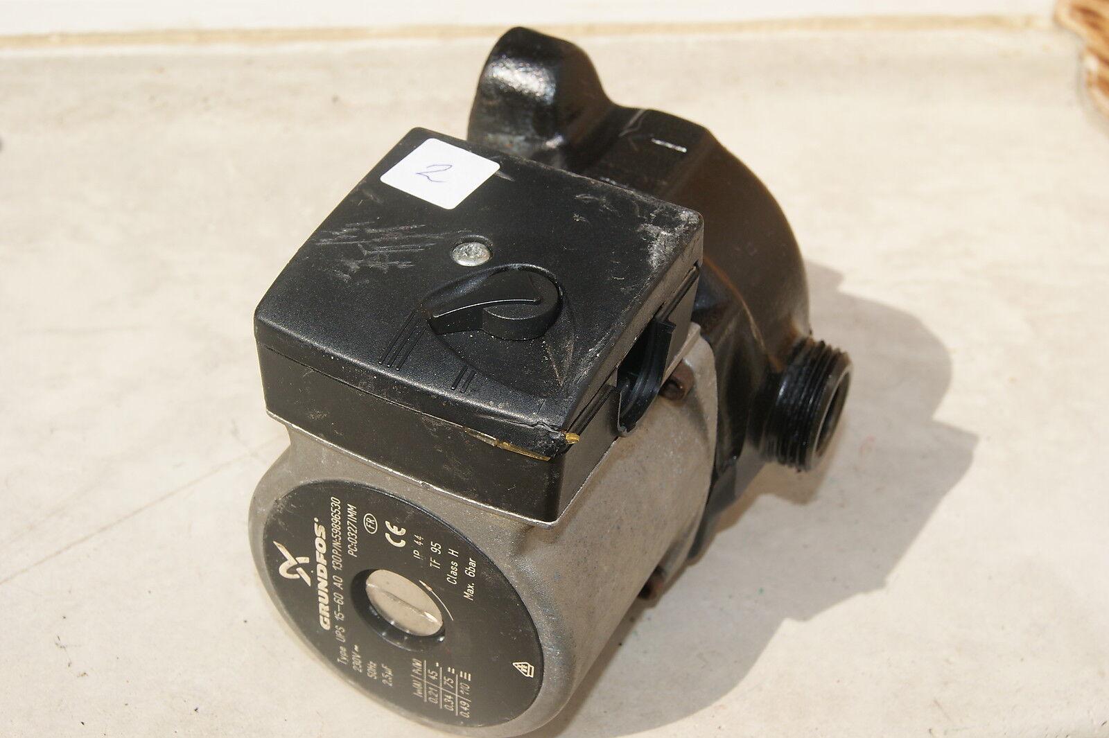 Pompe de chaudiere circulateur GRUNDFOS UPS 15-50 60 AO Occasion garantie (2)