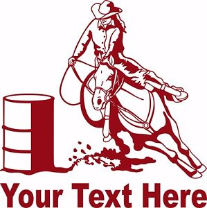 Cowgirl Barrel Race Horse Rodeo Car Truck Window Laptop Vinyl Decal Sticker!!!!
