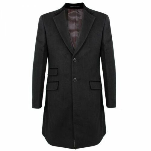 MERC LONDON LORD JOHN II COAT LONG BLACK 36 38 40 42 44 SLIM TAILORED FIT