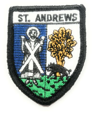 ST ANDREWS SCOTLAND BADGE Embroidered Sew on Patch Approx 70mm FREE UK Delivery