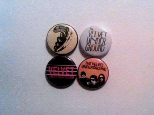"4 x Velvet Underground 1/"" Pin Button Badges lou reed andy warhol music nico"