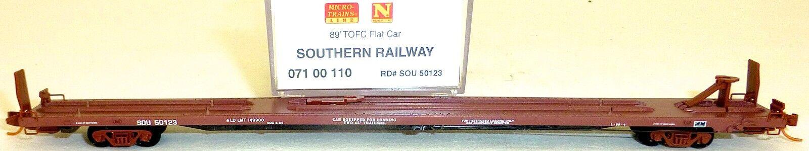 89 Tofc Piatto Car Southern Ferrovia Sou 50123 Microtrains 07100110 1:160  HS5 Å