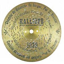 XV# SCHÄFERS SON... Kalliope Pl. D 18 Spieluhr Spieldose disc music box 7 1/8''
