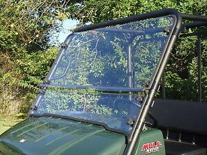 kawasaki mule 4010/4010 trans 2 pc vented hard coated windshield