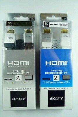 Black/White SONY 1.4 Ver. HDMI Cable FOR 3D HDTV PS3 XBOX360 High Speed 1080P 2M