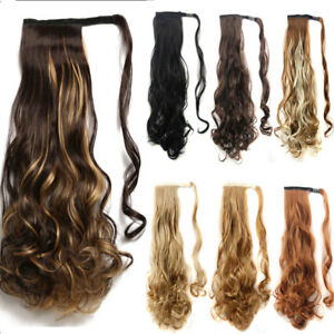 Details about US Long Ponytail Clip In Hair