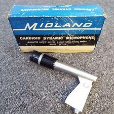 Vintage Midland 22-210 Dynamic Microphone Mic * Nice Condition in Original Box.